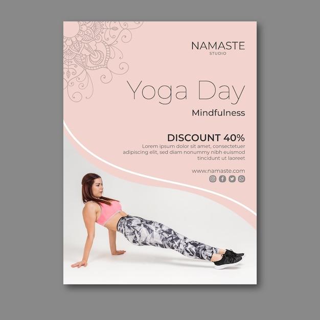 Meditation & mindfulness flyer template Free Vector