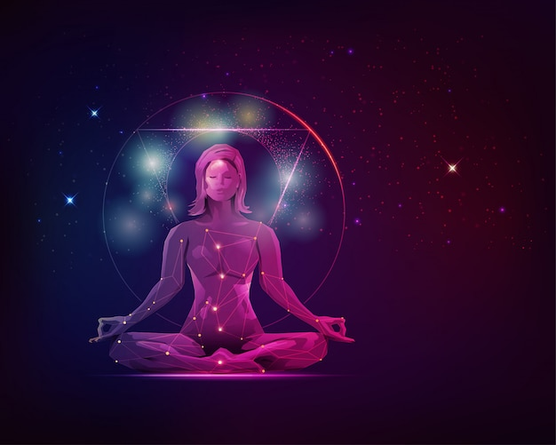 Meditation miracle Premium Vector