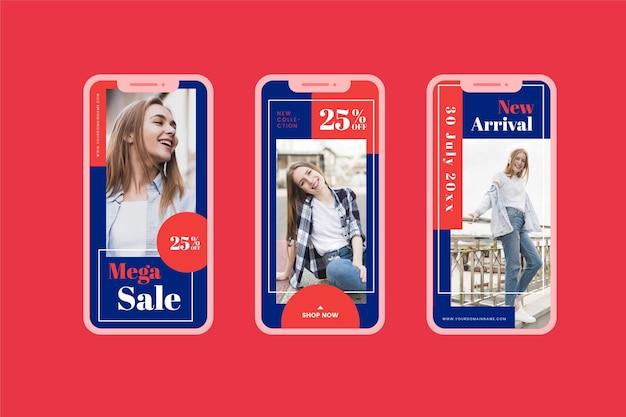 미디엄 샷 모델 판매 소셜 미디어 수집 무료 벡터
