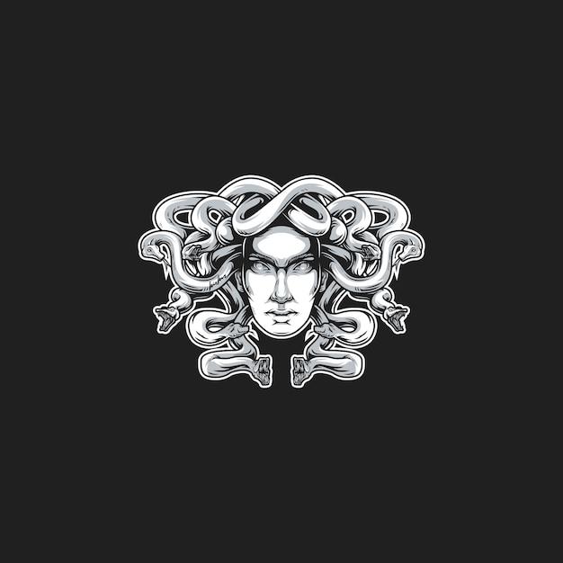 Medusa head vector illustration Premium Vector