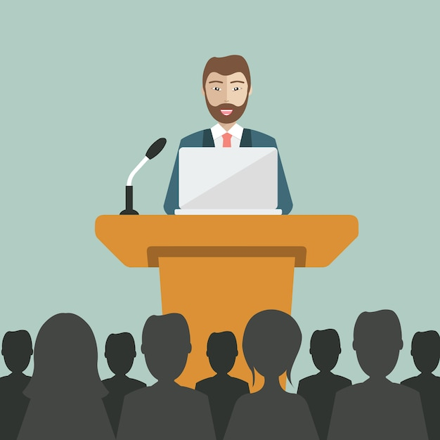 Meeting background desig Free Vector