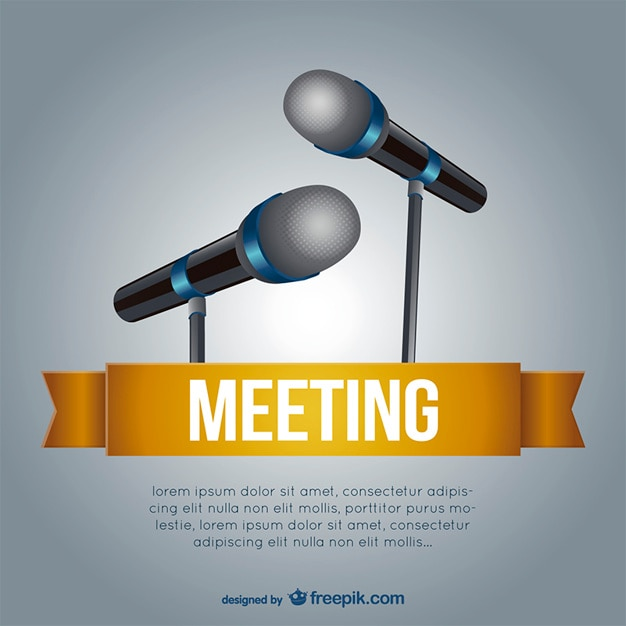 Meeting template with microphones