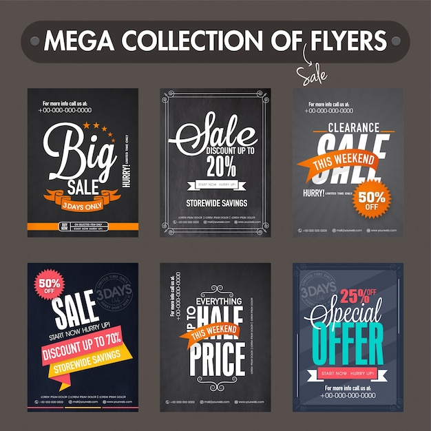 Mega Collection Of Big Sale And Discount Flyers Templates And