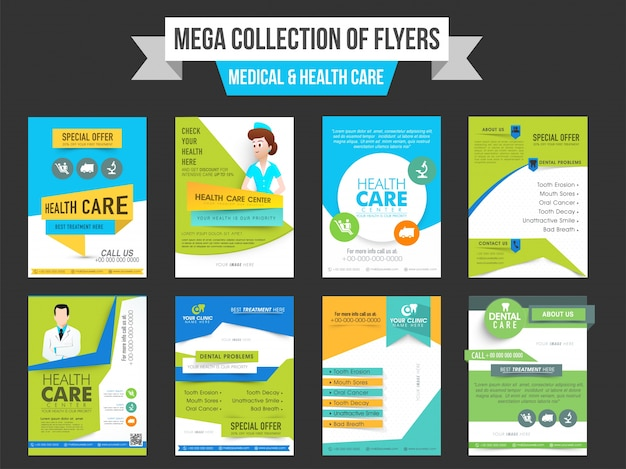 Mega Collection Of Eight Flyers Or Templates Design For