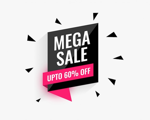 Mega sale banner design for your business promotion Free Vector