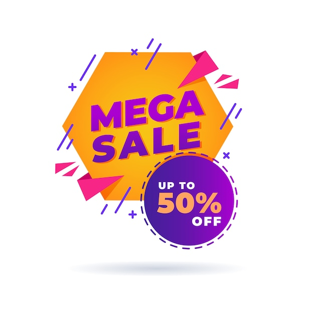 Мега распродажа, скидка до 50% Premium векторы