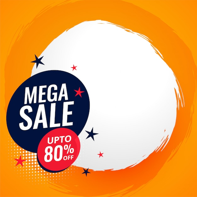 Mega sale and discount banner with text space Free Vector