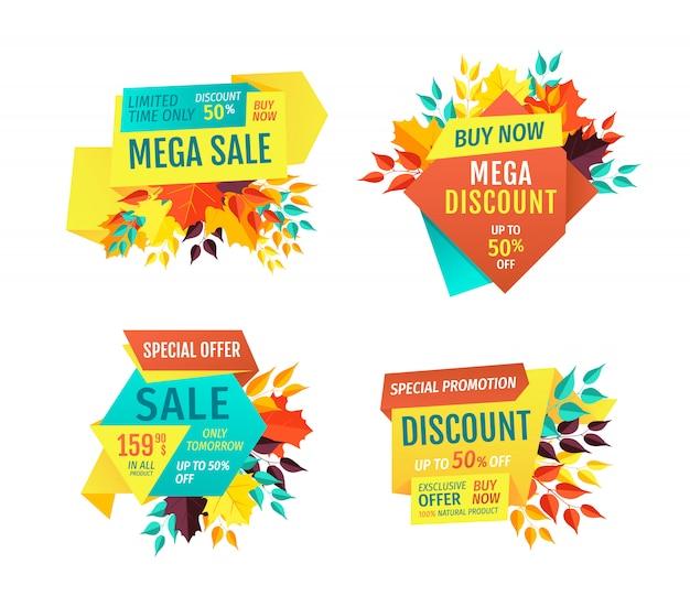 Mega sale exclusive products vector illustration Premium Vector