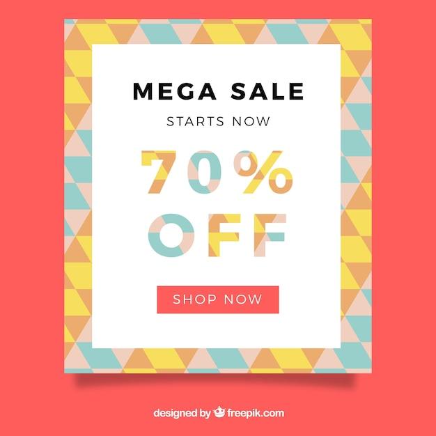 mega sale flyer vector free download