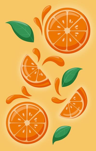 Mellow oranges Premium Vector