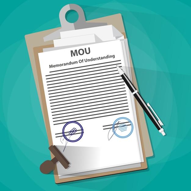 Меморандум о понимании юридической концепции документа Premium векторы