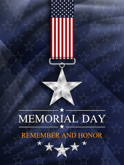 Memorial day background Premium Vector