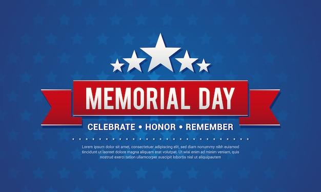 Memorial day greeting card vector illustration Premium Vector