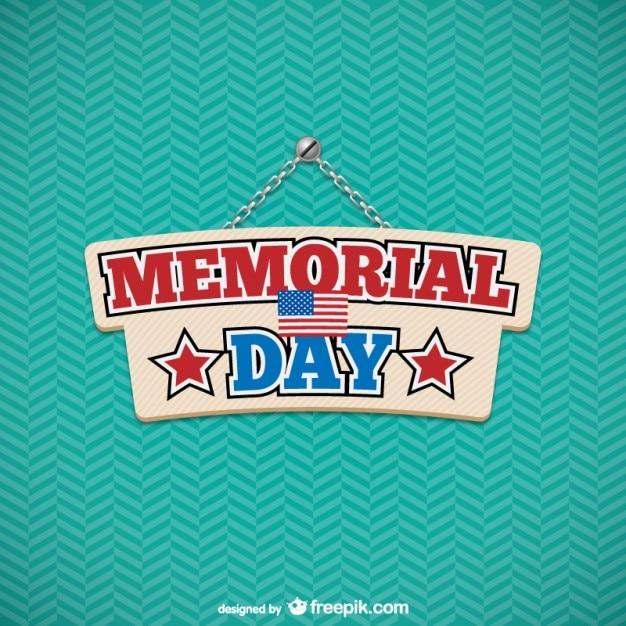 Memorial Day sign