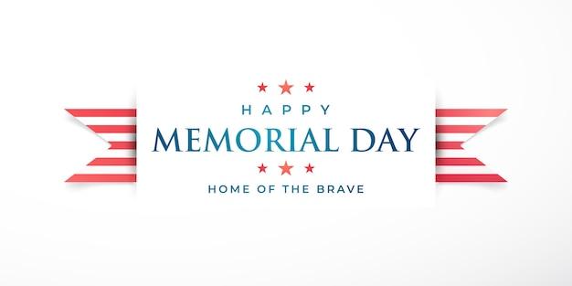 Memorial day in united states. Premium Vector