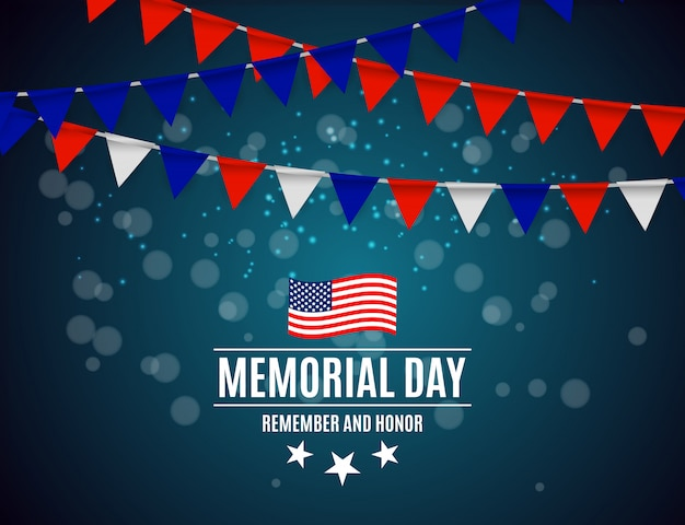 Memorial day in usa  background Premium Vector