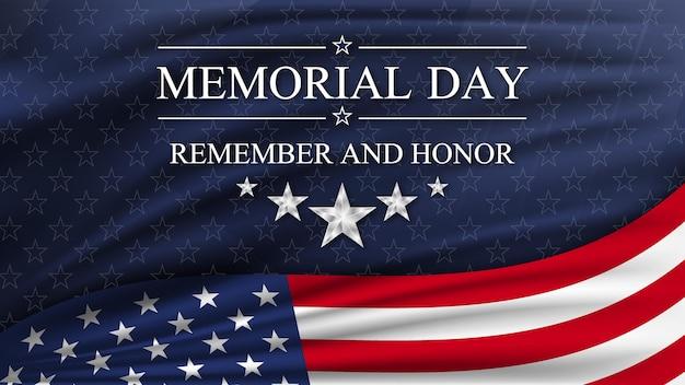 アメリカ合衆国の国旗のある記念日。アメリカの国民の祝日。 Premiumベクター