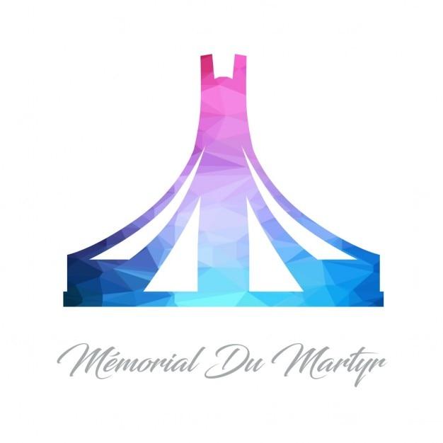 Memorial du martyn, polygonal shapes Free Vector