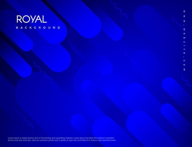 Memphis abstract blue background Premium Vector