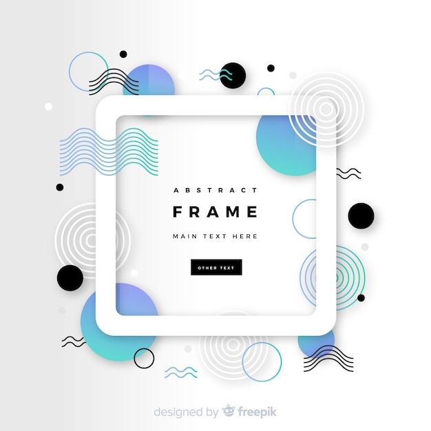 Memphis abstract frame Free Vector