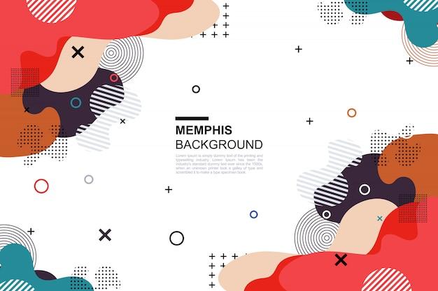 Memphis background Premium Vector