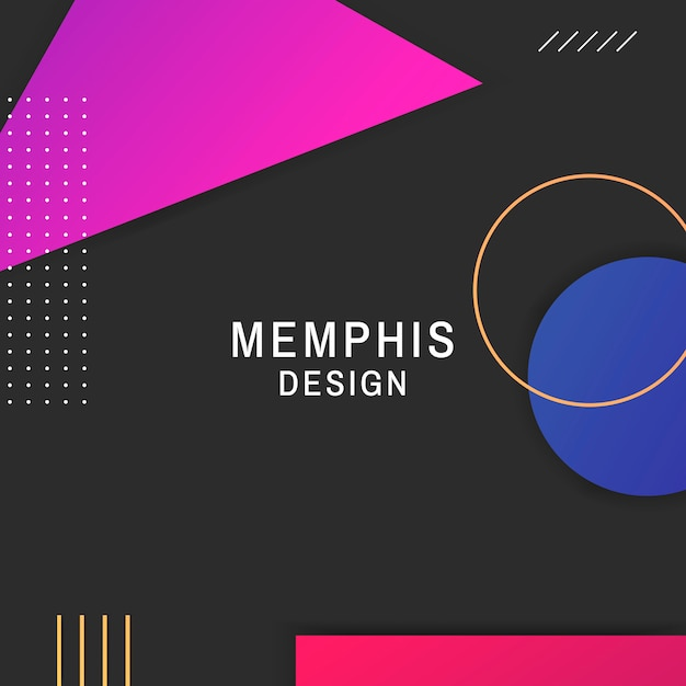 Memphis background Free Vector