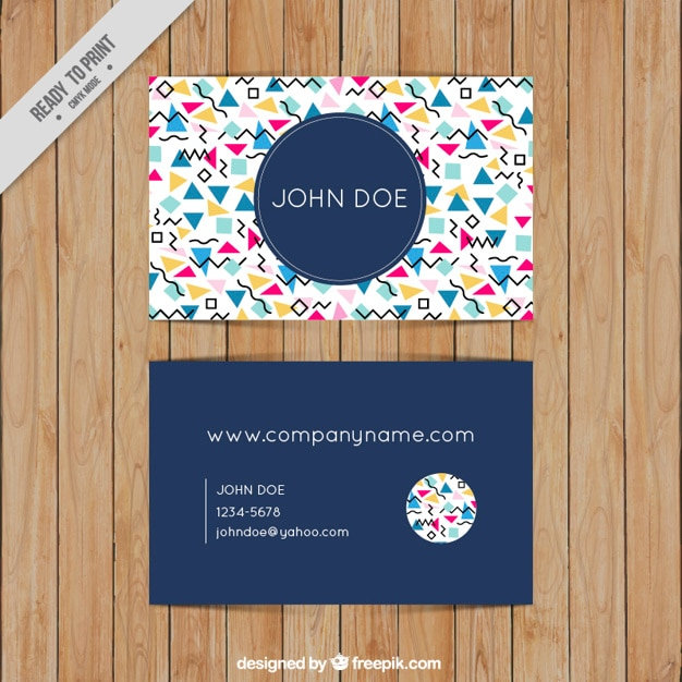 Memphis business card vector premium download for Business cards memphis