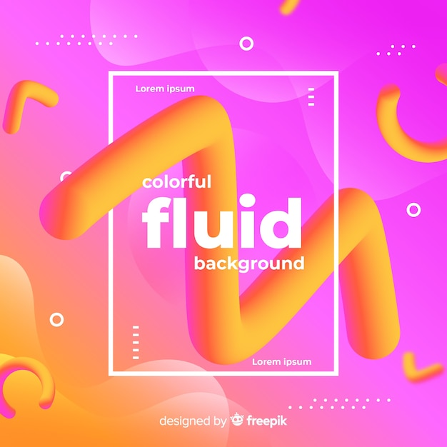 Memphis colorful and fluid design background Free Vector