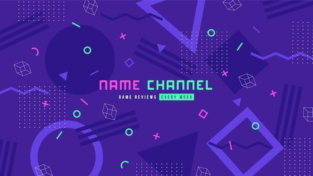 Мемфис дизайн игры youtube канал искусство Premium векторы