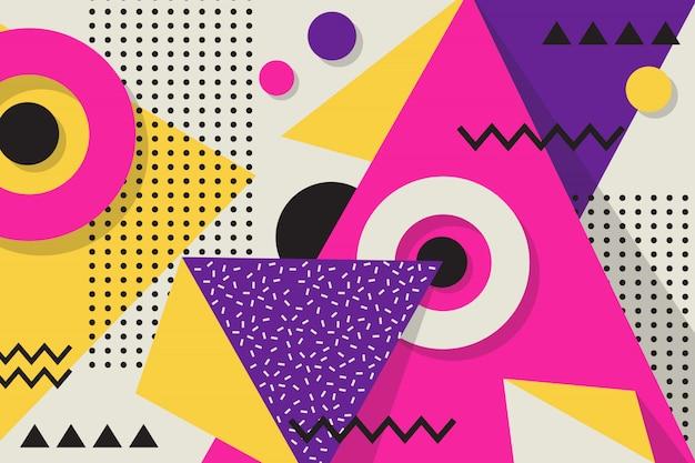 Memphis geometric background Premium Vector