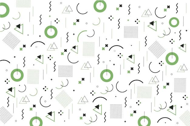 Sfondo di design piatto di forme geometriche di memphis Vettore gratuito