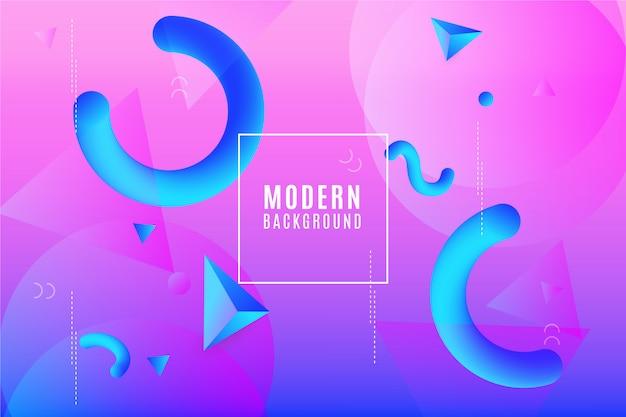 Memphis modern background Free Vector