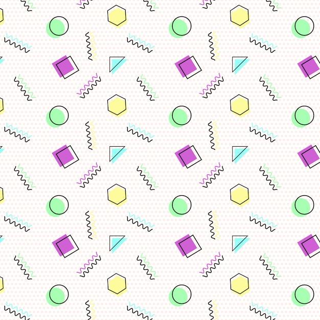 Memphis pattern background Premium Vector