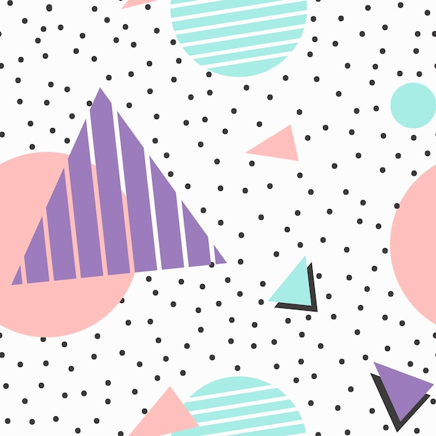 Memphis pattern background Free Vector