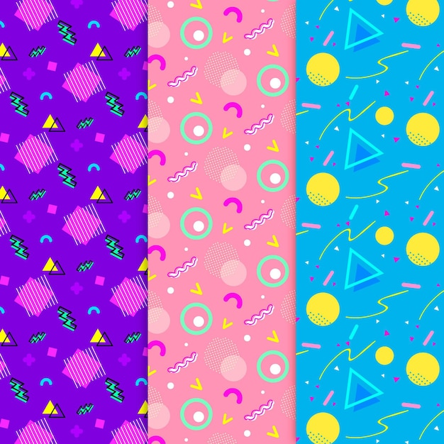 Memphis pattern collection Free Vector