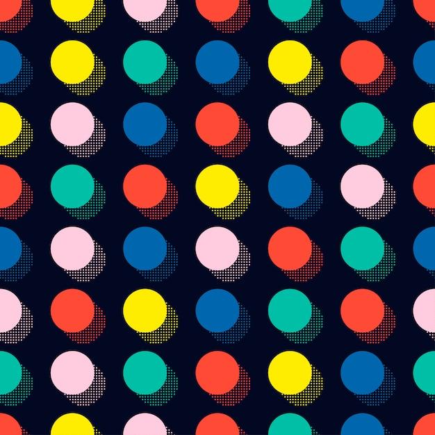 Memphis seamless patterns. abstract jumble textures. circle, round, dot. Premium Vector