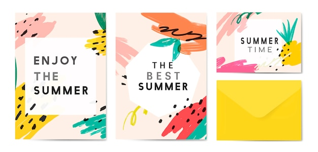 Memphis summer background collection Free Vector