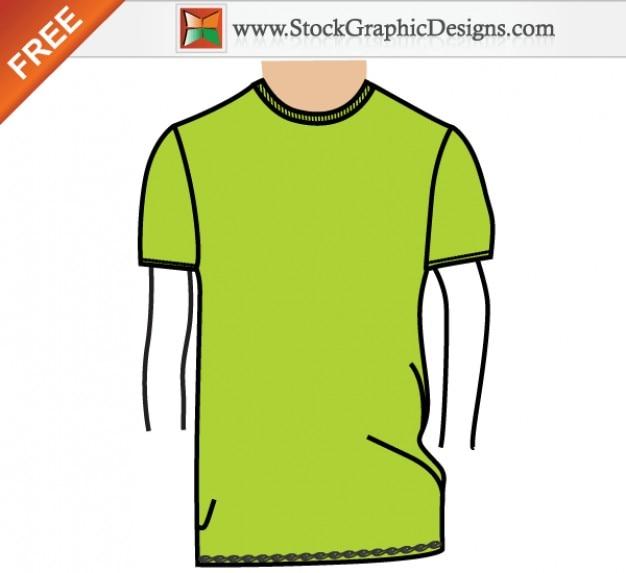 Men's Basic T shirt Template Free Vector Illustration Free Vector