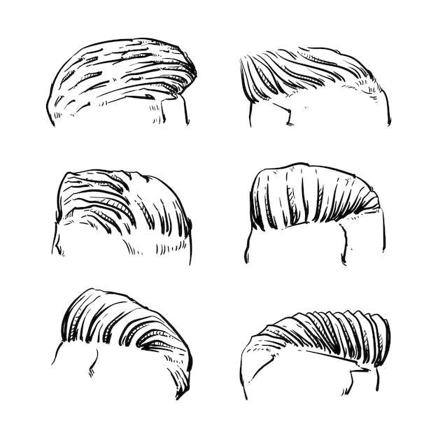 Men hair style Premium Vector