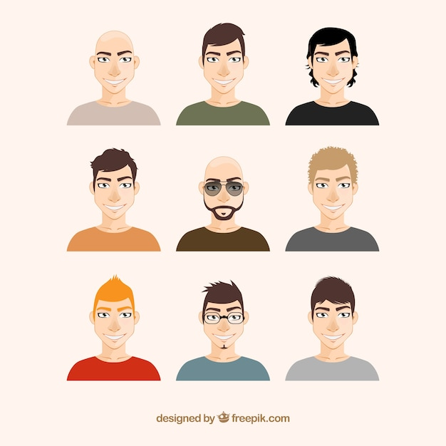 Men illustrations Premium Vector