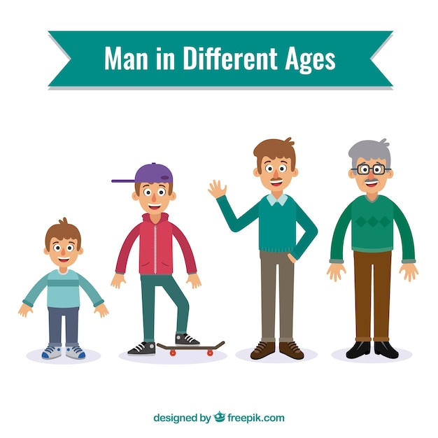 Men in different ages