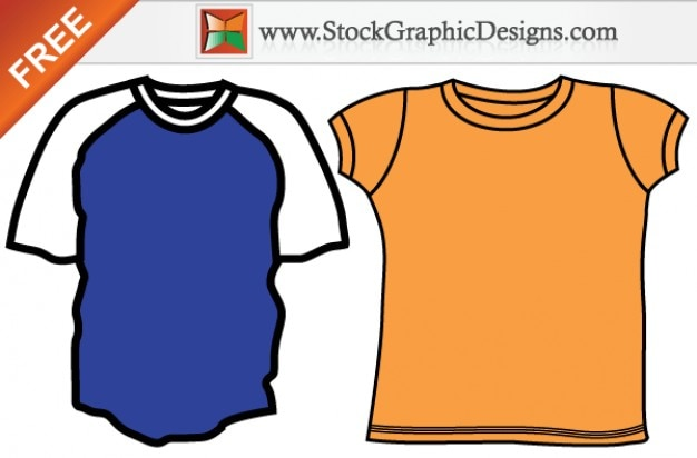 Mens Blank T Shirt Templates Free Vector Set