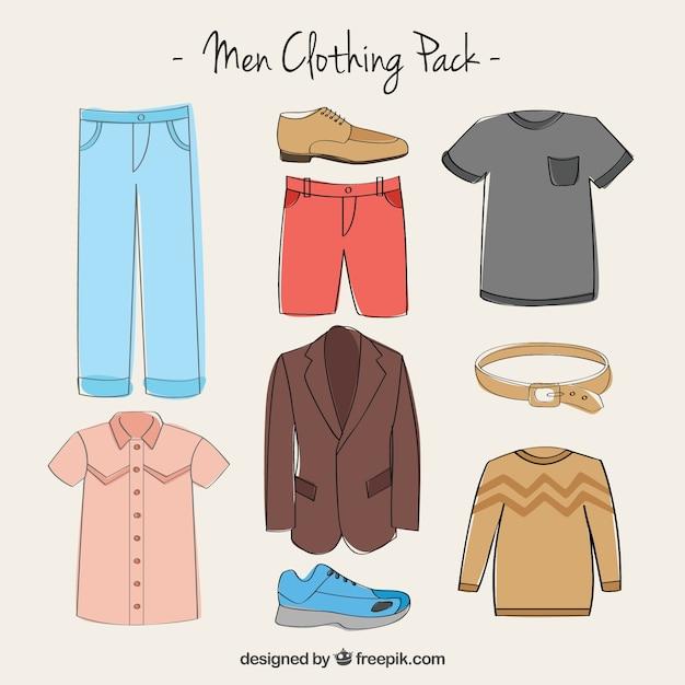Men's clothing pack