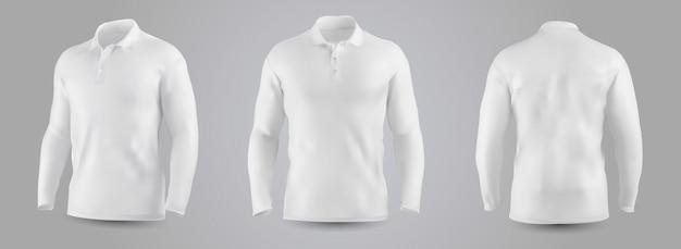Men's sweatshirt with long sleeve mockup. Premium Vector