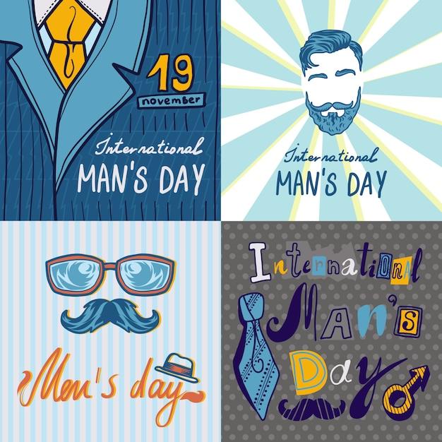 Mens day concept background Premium Vector