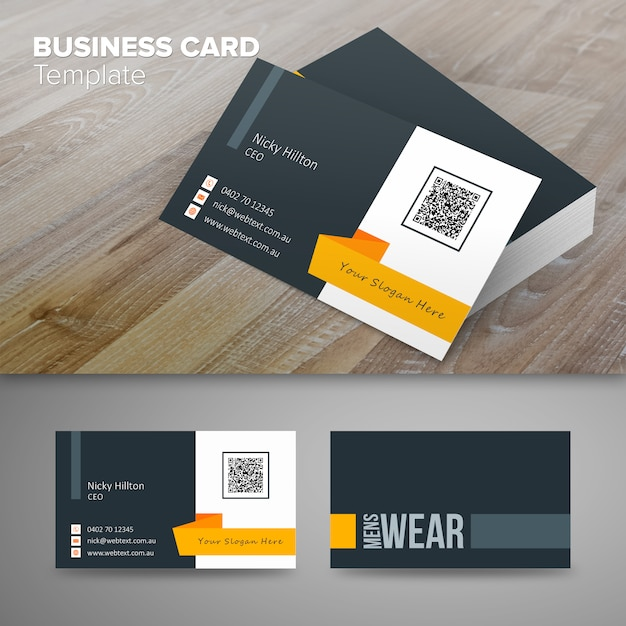 Minimalist business man vectors photos and psd files free download mens wear clean business card template colourmoves Images