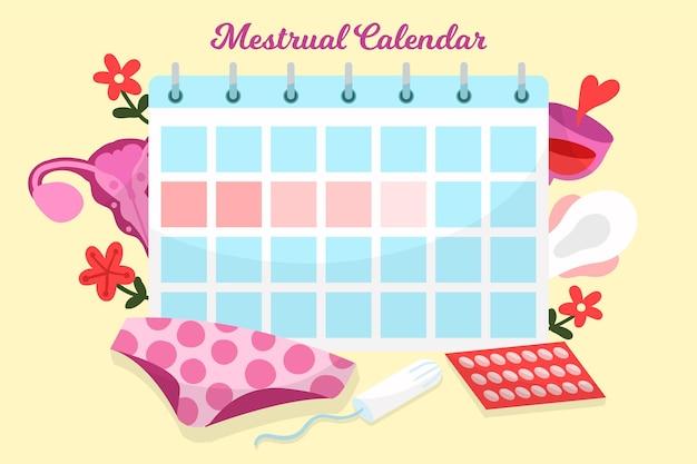 Иллюстрация концепции менструального календаря Premium векторы