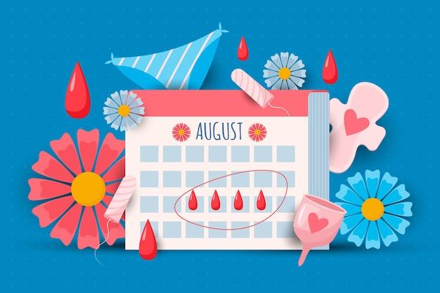 Концепция менструального календаря Premium векторы