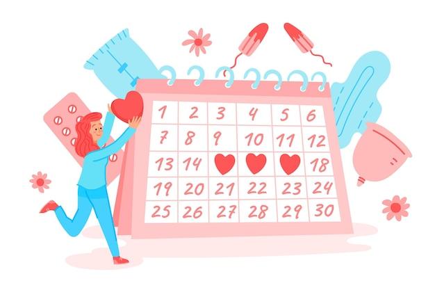 Концепция менструального календаря Бесплатные векторы
