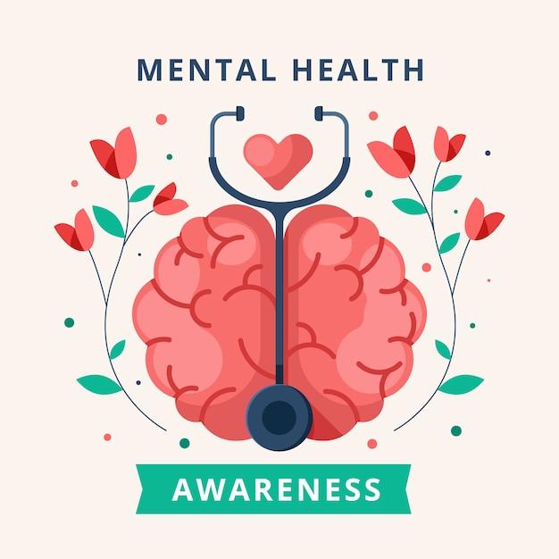 Free Vector | Mental health awareness concept